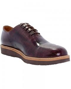 Checkered Rugan Erkek Ayakkabı Kahverengi